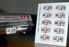 GEORGIA Peach-Style miniature LICENSE PLATES for 1/25 scale MODEL CARS