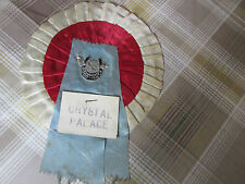 Original CRYSTAL Palace Good Luck Centre 1960's FOOTBALL Rosette