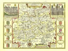 Surrey  Nonsuch Replica  Old John Speed Map c.1610 Full Size Print UNIQUE GIFT