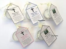 20 Rememberance , Funeral DIY Organza bag, Candle & Personalised Tag Favours