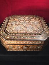 Fine Large Indian Vizagapatam Inlaid Hardwood Box c.1900