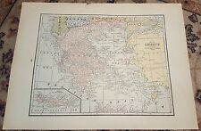"12"" X 16"" Antique 1924 JUGO-SLAVIA/BALKAN-STATES & GREECE Map(2 Sided)"