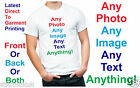 Custom Personal Adult White T Shirt Printed With Any Photo Any Image Any Text!