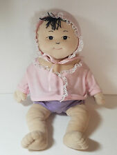 Baby Bottoms Asian Baby Girl  Anatomically Correct Cloth Doll Lovey Toy