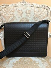 Salvatore Ferragamo Mens Brown / Black  Messenger Bag NEW