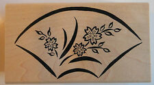 Japanese Fan Rubber Stamp - Wood Mounted