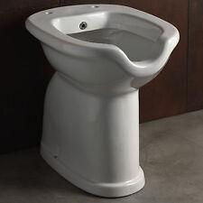 Wc-bidet combinato apertura frontale in ceramica bianco per disabili altezza 49H