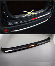 Rear Bumper Protector Sill Plate for 2016 Mitsubishi Outlander door ABS red