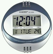 Kadio Digital Jumbo Wall Mount & Table Temperature Display Clock KD-3806