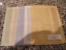 "5 New Sferra Linen Chiara Cocktail Napkins 6"" x 9""/Gold Taupe Ivory Blue Green"