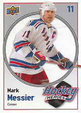09/10 UPPER DECK HOCKEY HEROES MARK MESSIER RANGERS #HH24 *9061