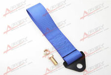 BLUE HIGH STRENGTH RACING TOW STRAP SET FOR FRONT/REAR BUMPER HOOK TRUCK/SUV E