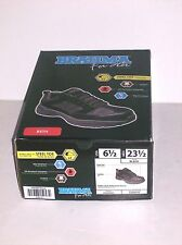 BRAHMA FOR HER BETH Steel Toe Work Shoes Size 6 1/2 Leather Black Slip Resistant