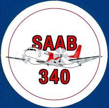 SAAB 340 SWEDISH TWIN ENGINE TURBOPROP AIRCAFT ROUND STICKER