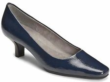 NEW A2 BY AEROSOLES DIMPERIAL DARK BLUE PATENT PUMPS SLIP ON SHOES 6 M