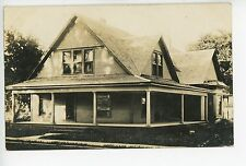 """""""A Picture of our Home"""" WICHITA KS Antique RPPC Photo KEEP OFF GRASS 1909"""