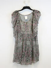 Paul & Joe Sister Womens Grey Print Dress Size 42 (UK Size 14)