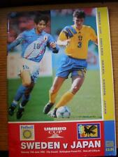 10/06/1995 At Nottingham Forest: Sweden v Japan [Umbro Cup] .  Any faults with t