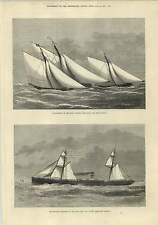 1875 West India Pacific Steamship Company Haytian Carter Match Thames Yacht Club