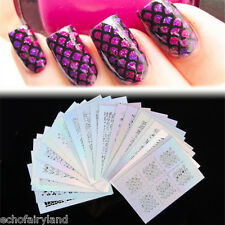 24 Sheet/set Nail Art Vinyls Manicure Stencil Decal Star Heart Flower Fish Scale