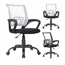 Ergonomic Mid-Back Executive Swivel Mesh Office Chair Computer Furniture White