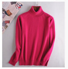 2017 Womens Loose Pullover Turtleneck Knit Sweater Cardigans Jumpers Gift