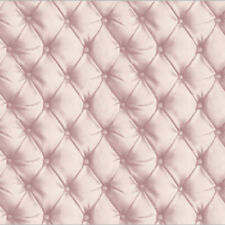 NEW 2017 | 3D Effect Quilted Leather Wall Button Detail Wallpaper Silver Grey 61