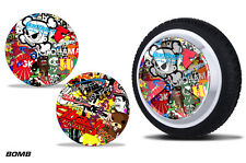 Skin Stickers for Hover Board Wheels Self Balancing Scooter 5 SPOKE Rim Decal BM