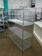 Wire shelving 1500mm x 600mm deep rack for retail shop BRAND NEW Zinc cool room