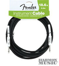 Fender 20' (18.6) Foot ft Guitar Cable BLACK Stratocaster Straight Straight NEW