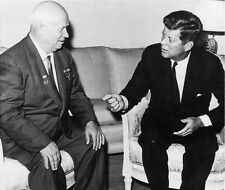 Khrushchev and President John F Kennedy 10x8 Photo