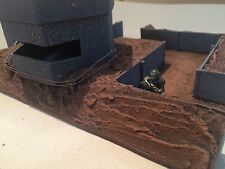 Warhammer 40k Terrain Trench Large 3-Way Intersection with Fortified Bunker