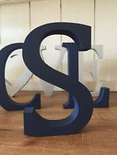 Navy Blue Wooden Letter S, 13cm Large Letter S, Navy S, Initial S