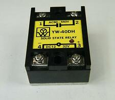 SOLID STATE RELE SSR  380V 40A     YW-40DH  INPUT 12-32DC  OUT 90-440VAC
