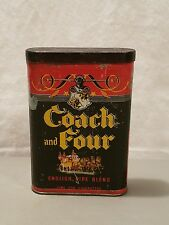 VINTAGE COACH AND FOUR TOBACCO VERTICAL POCKET TIN TOBACCIANA ADVERTISING