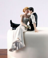 New Arrival Ceramic Couple Figure Funny Wedding Cake Toppers Free Shipping