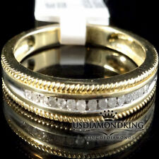 10k YELLOW GOLD SOLITAIRE GENUINE DIAMOND MEN'S ENGAGEMENT WEDDING RING BAND S10
