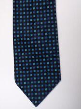 elegante breite Krawatte von VICENZA - reine Seide blau