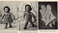 Vintage 1930s Knitted Doll & Clothes, and Pram Gifts, Knitting Pattern, Repro