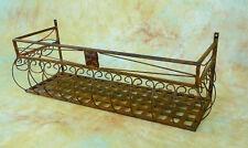 2x 80cm Wand-Blumenkasten Eisen Balkonkasten 0946427s-b