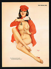 60's-70's Vintage Vargas Girl Chinese Propaganda Asian Nude Pin Up Art Print