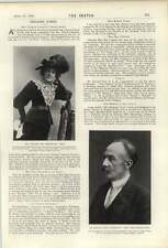 1900 Thomas Hardy Author Of Tess Mrs Waller May Congdon Kitty Chalmers
