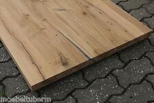 Tischplatte Couchtisch Platte Eiche Massiv Holz Leimholz Brett mit 2x Baumkante