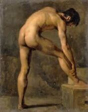 """HIGH QUALITY PORTRAIT OIL PAINTING ON CANVAS : """"NUDE MALE"""" #A239 (No Frame)"""