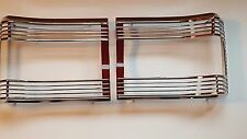 Mopar 1967 Plymouth GTX Satellite Tail Light Bezels with Red Trim-NEW
