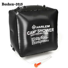 40L Outdoor Solar Heated Water Shower Bag Camping Hiking Bathing Water Bag