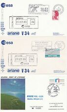 1989 - Launch ARIANE V34 - 3  space coverr from Paris/Kourou