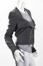 GIVENCHY Womens Modern Charcoal Gray Wool Tailored Layered Jacket Coat 40/8 NEW
