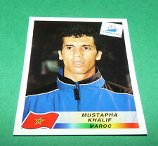 N°58 MUSTAPHA KHALIF MAROC MOROCCO PANINI FOOTBALL FRANCE 98 1998 COUPE MONDE WM