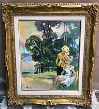 MAGNIFICENT FRENCH OIL ON CANVAS BY PIERRE GRISOT LISTED ARTIST